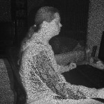 Captured color image from Kinect infra red camera